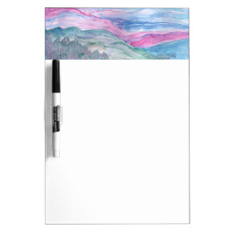 Abstract Landscape Smokey mountains Dry-Erase Board