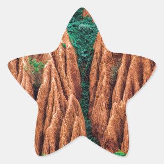 Abstract landscape. star sticker