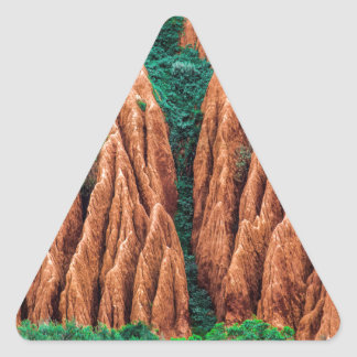 Abstract landscape. triangle sticker