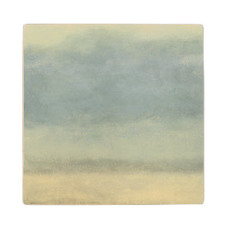Abstract Landscape with Overcast Sky Wood Coaster