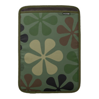 Abstract Large Flower Camouflage Sleeve For MacBook Air