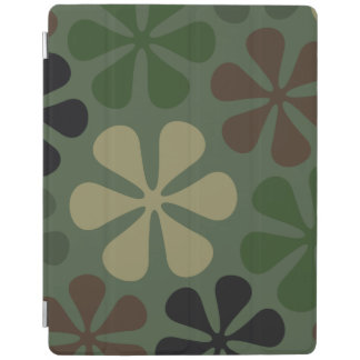 Abstract Large Flowers Camouflage iPad Cover