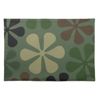 Abstract Large Flowers Camouflage Placemat