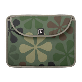 Abstract Large Flowers Camouflage Sleeve For MacBook Pro