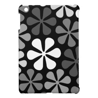 Abstract Large Flowers Monochrome Case For The iPad Mini
