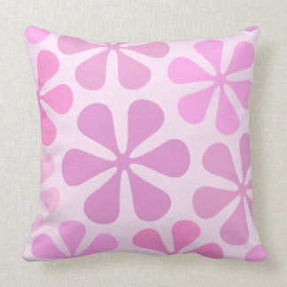 Abstract Large Flowers Pinks Cushion
