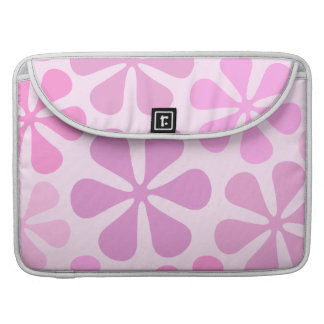 Abstract Large Flowers Pinks Sleeve For MacBooks