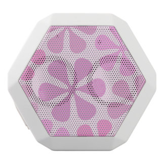 Abstract Large Flowers Pinks White Bluetooth Speaker