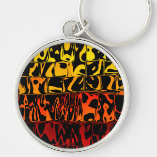 Abstract Lava Swirl Key Chains