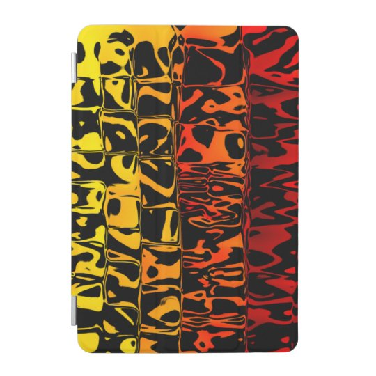 Abstract Lava Swirl Squared iPad Mini Cover