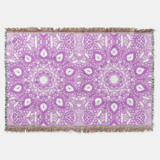 Abstract Lavender Mandala Kaleidoscope Blankets
