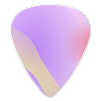 Abstract Lavender White Delrin Guitar Pick