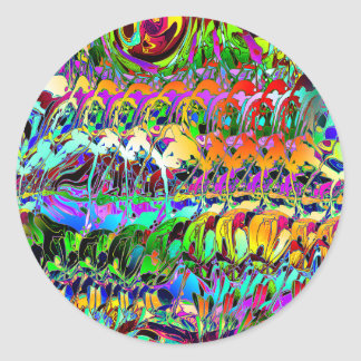 Abstract Layers of Color Round Sticker