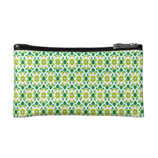 Abstract Leaf Design Cosmetic Bag