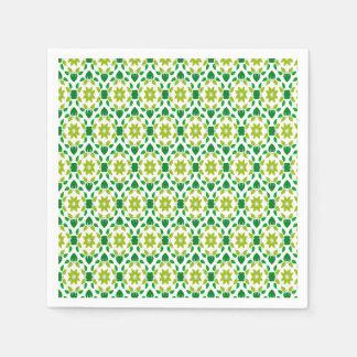 Abstract Leaf Design Disposable Serviettes
