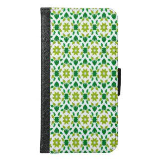 Abstract Leaf Design Samsung Galaxy S6 Wallet Case