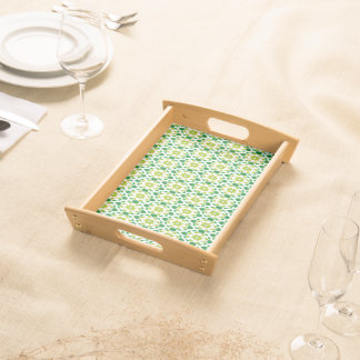 Abstract Leaf Design Serving Tray