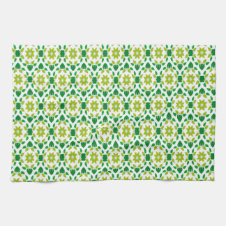 Abstract Leaf Design Tea Towel