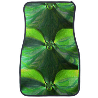 Abstract Leaf Fox Pattern Car Mat