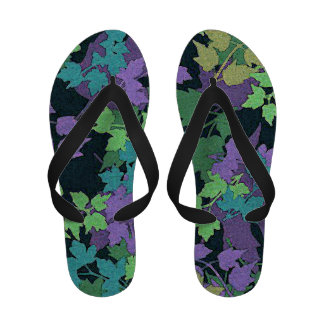 Abstract Leaves Flip Flops