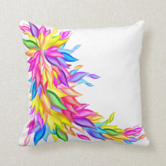Abstract Leaves in Full Color American MoJo Pillow Throw Cushion