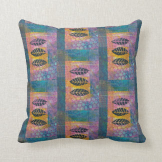 Abstract Leaves Monoprint Pillow