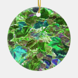 Abstract Leaves Nature Pattern Christmas Ornament