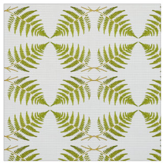 Abstract leaves pattern fabric