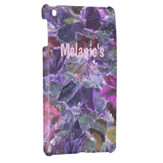 Abstract Leaves Pattern Purple and Pink Case For The iPad Mini