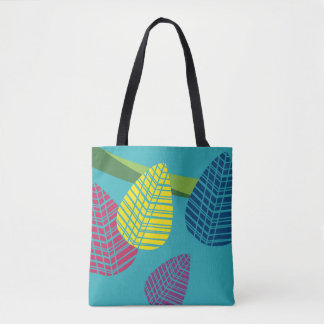 Abstract Leaves Print Tote Bag
