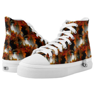Abstract Light And Colors Pattern High Tops