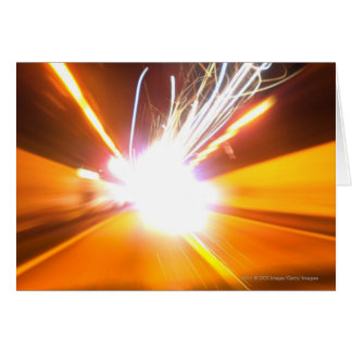 Abstract light beams and effects card