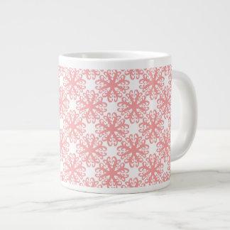 Abstract Light Coral Flower Latte Mug Jumbo Mug