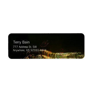"Abstract Light Painting Photo ""Ribbont"" Return Address Label"