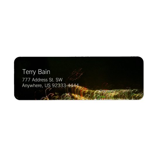 """Abstract Light Painting Photo """"Ribbont"""" Return Address Label"""
