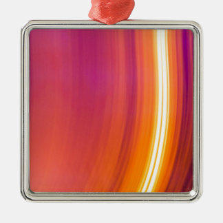 abstract light stripes Silver-Colored square decoration