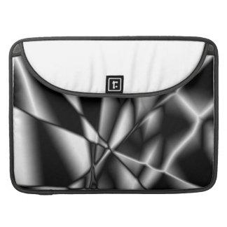 Abstract Lightning Black White Flap Sleeves MacBook Pro Sleeves