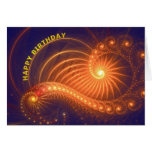 Abstract lights Birthday card