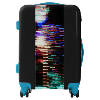 Abstract Lights Carry On Luggage