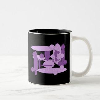 Abstract lilac Two-Tone coffee mug