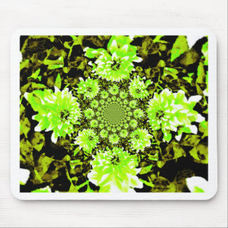 Abstract Lime Green Dahlia. Mouse Pad