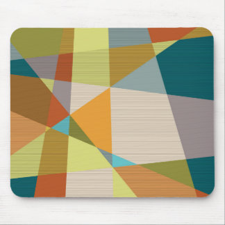 Abstract Line Pattern with Retro Colors Mouse Pad