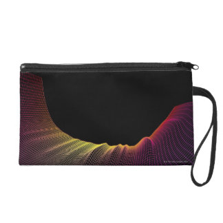 Abstract Line Pattern Wristlet
