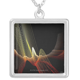 Abstract Line Silver Plated Necklace