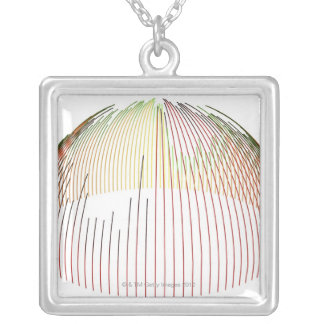 Abstract Lines 2 Silver Plated Necklace