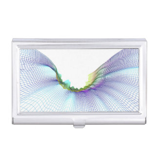 Abstract Lines 7 Business Card Holder