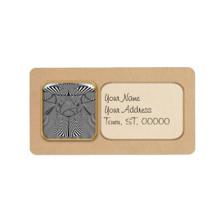 Abstract - Lines - Bad Dog Address Label