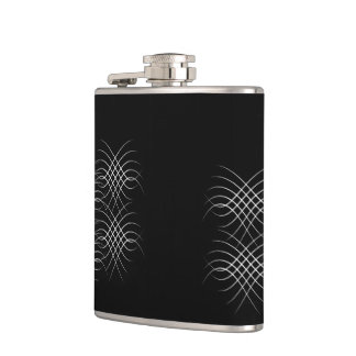 Abstract lines hip flask