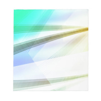 Abstract Lines in soft colors Notepad