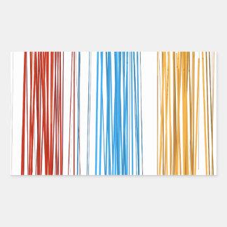 Abstract lines rectangular sticker